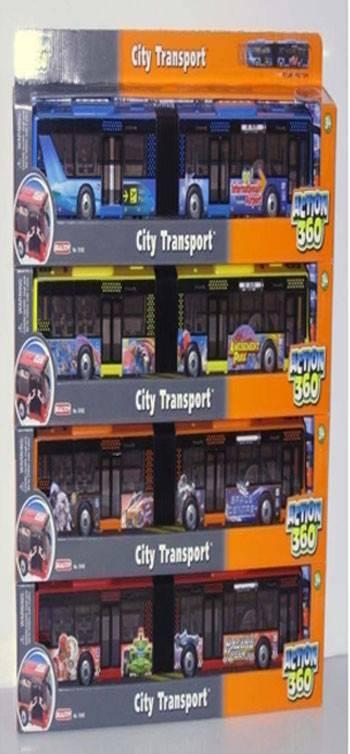 """Инерционная пластмассовая машина """"Городской автобус с ..."""