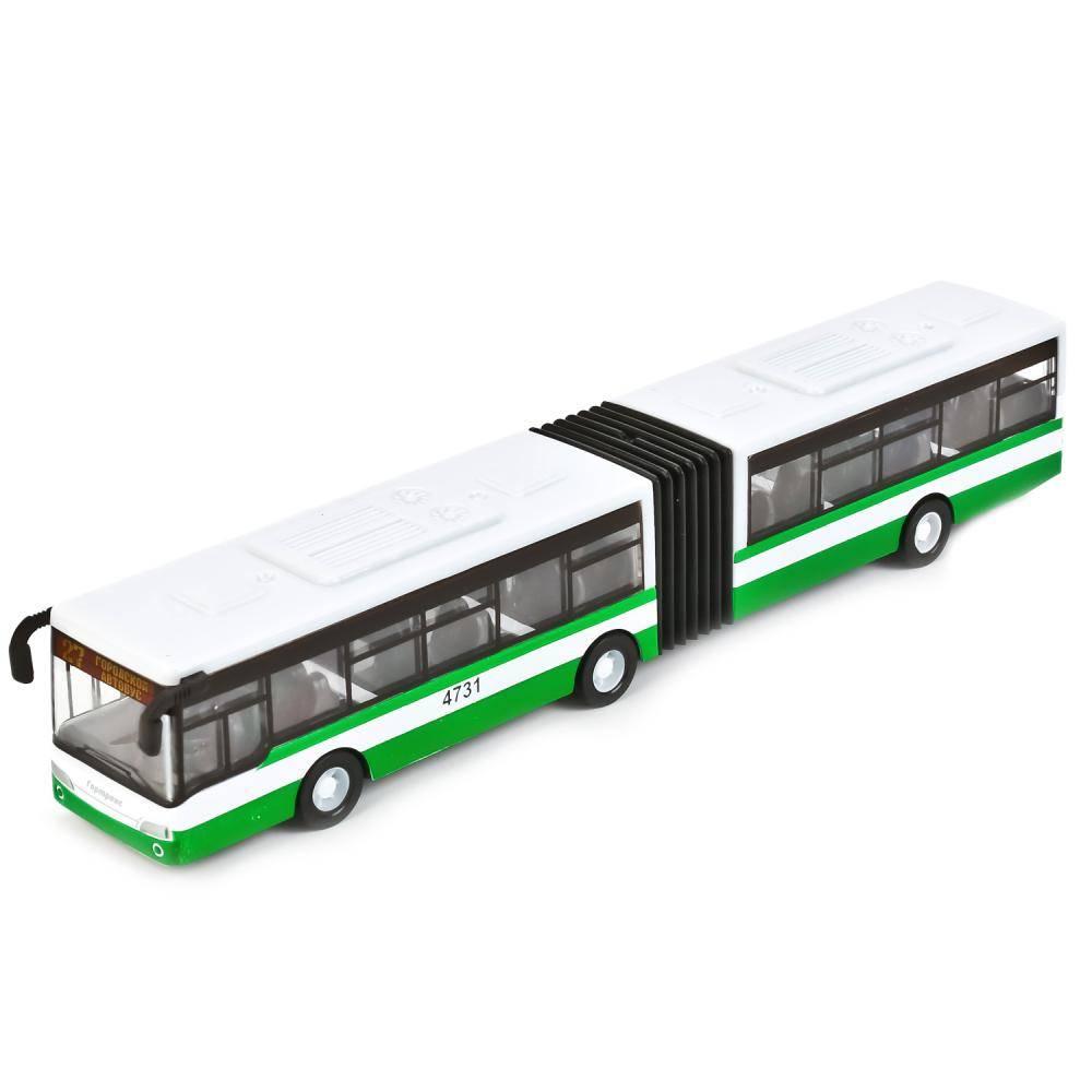 Автобус (с гармошкой) металл. на инерции 18 см Технопарк ...