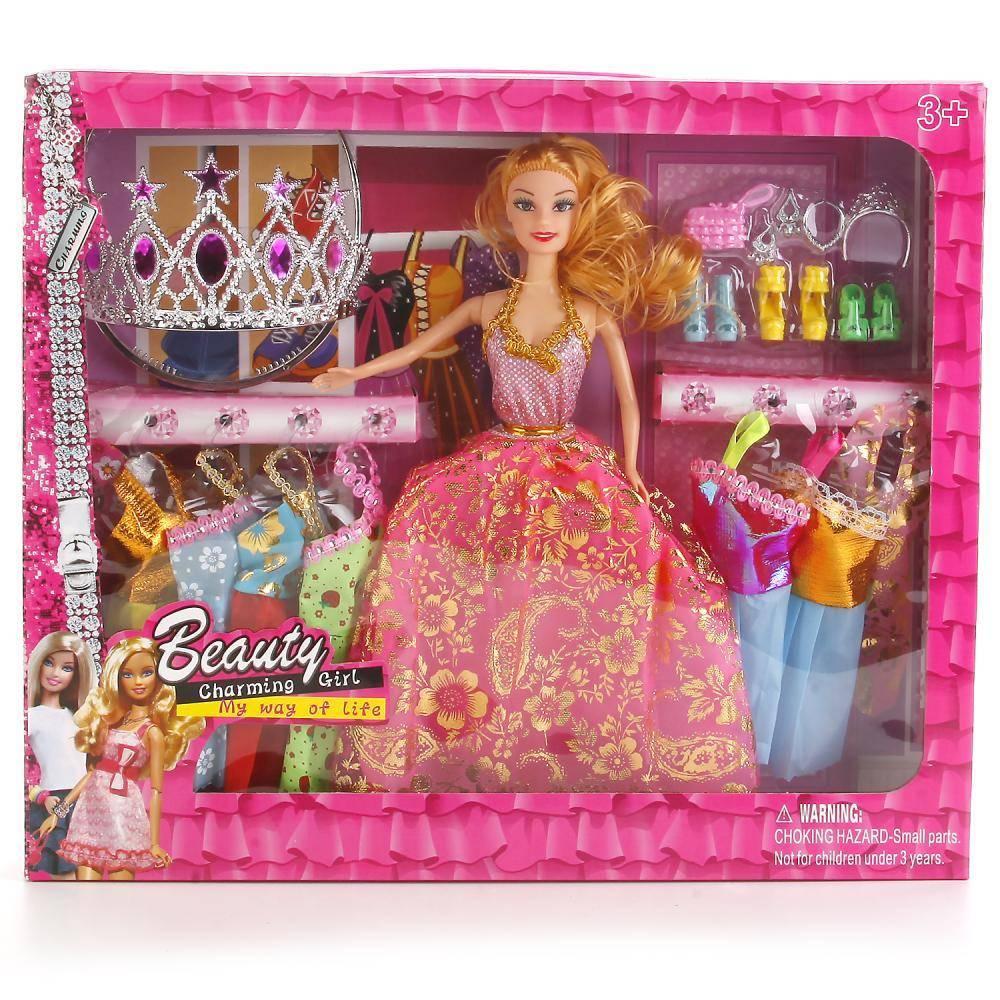 кукла с набором одежды