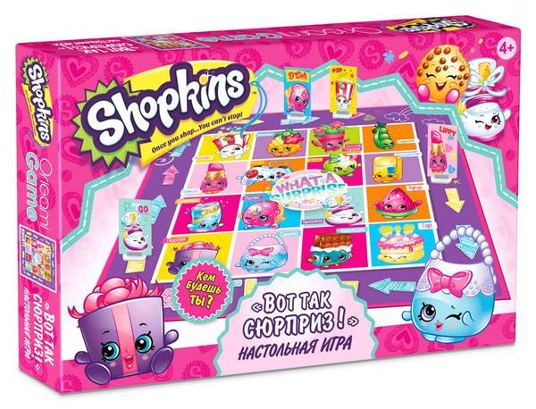 "Игра настольная Shopkins ""What a surprise!"" ORIGAMI 03046"