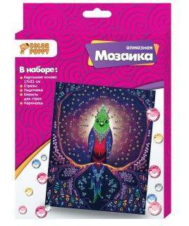 Алмазная мозаика «Птица» 17х21см Color Puppy 95420