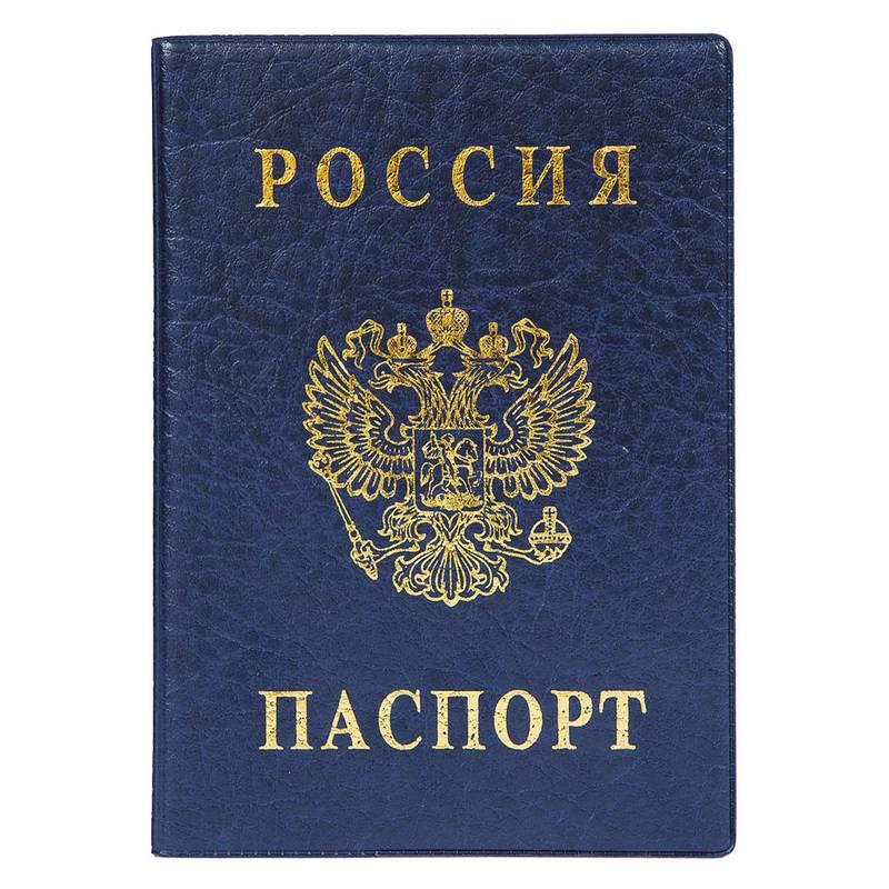 Обложка для паспорта ДПС из ПВХ синего цвета (2203.В-101) 723914 - купить в Москве