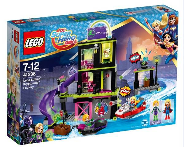 Фабрика Криптомитов Лены Лютор, конструктор Lego Super Hero Girls (Девушки Супергерои) 41238