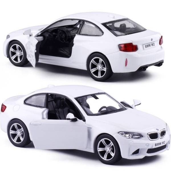 1:32 Машина металлическая RMZ City BMW M2 COUPE with Strip инерционная, белая UNI-FORTUNE 554034-WH