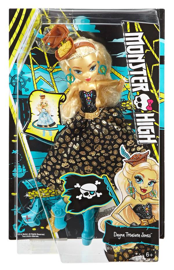 "Кукла Школа Монстров ""Дана Джонс. Пиратская авантюра"" Mattel Monster High DTV93"