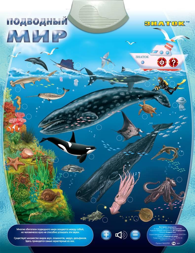 Электронный звуковой плакат Подводный мир Знаток PL-09-WW - купить в Москве