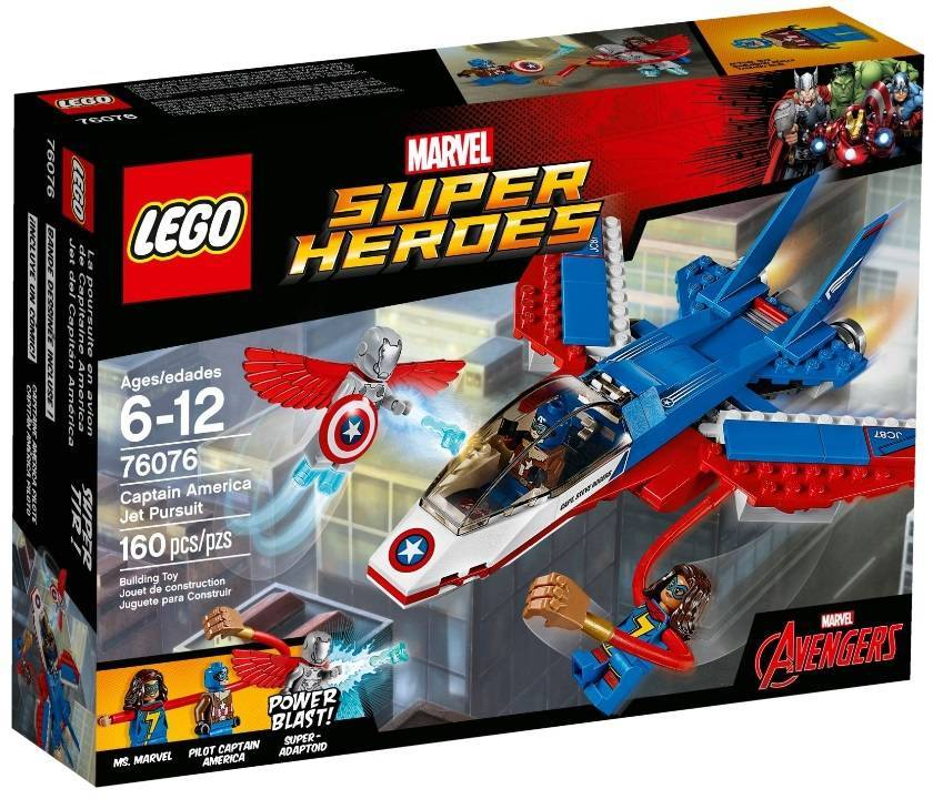 Воздушная погоня Капитана Америка, конструктор Lego Marvel Super Heroes (СуперГерои) 76076