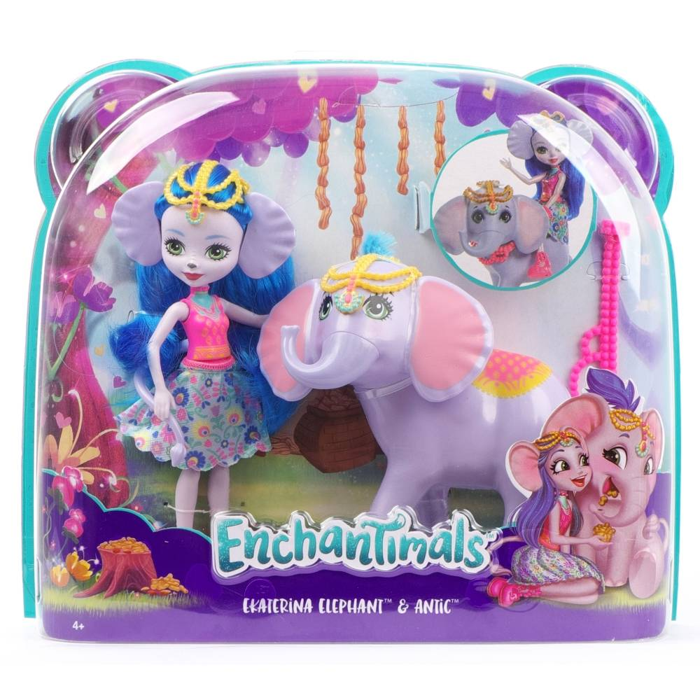 Кукла Enchantimals Екатерина Слон и Антик Mattel FKY73/astFKY72